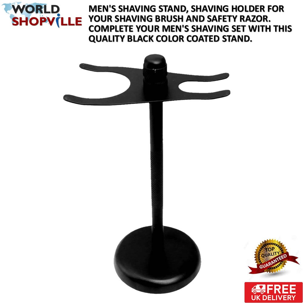Shaving Stand - From WorldShopVille - Men's Shave Stand -Shave Holder for Your Shaving Brush and Safety Razor - Complete Your Men's Shaving Set with This Quality Chrome plated Stand.