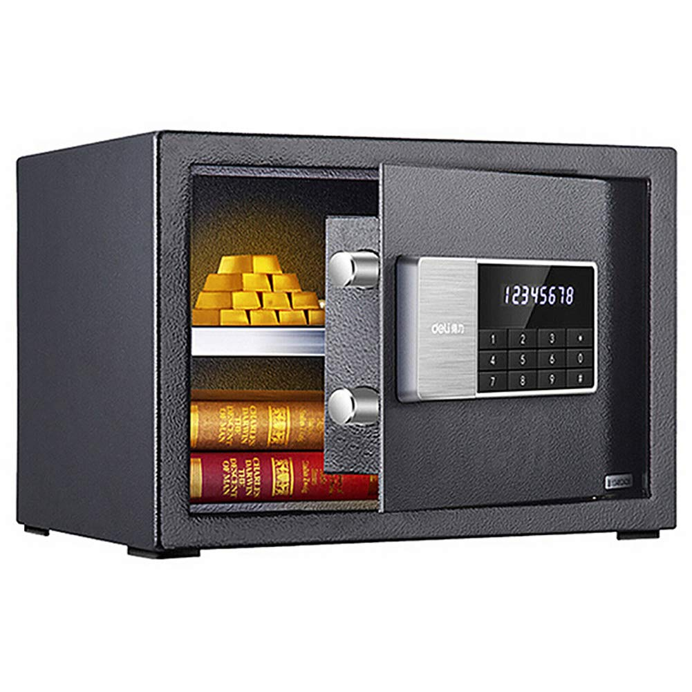 CHB Small Wall-to-Wall Password Safe Deposit Box Confidential File Storage Office Home Double Safe Digital Password Safe