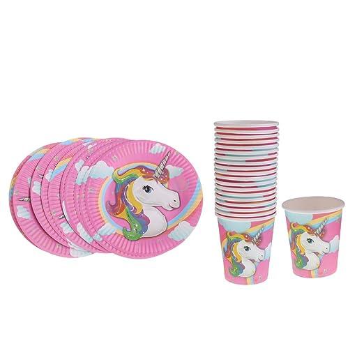 Paquete De 20 Unicornio Papel Desechable Vasos para Beber ...