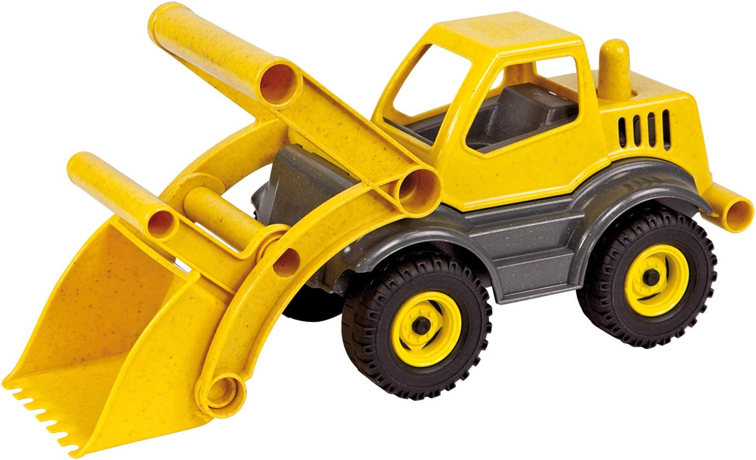 Lena Eco Active Front Loader Truck is a Eco Friendly BPA and Phthalates Free Green Toy Manufactured from Food Grade Resin and Wood Yellow Product Name