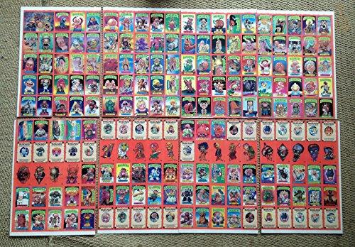 Garbage Pail Kids Poster (Basuritas Garbage Pail Kids POSTER Sheet Complete Set GPK)