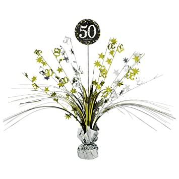 Amakando 50 Geburtstag Deko Kaskade Happy Birthday Tischdekoration