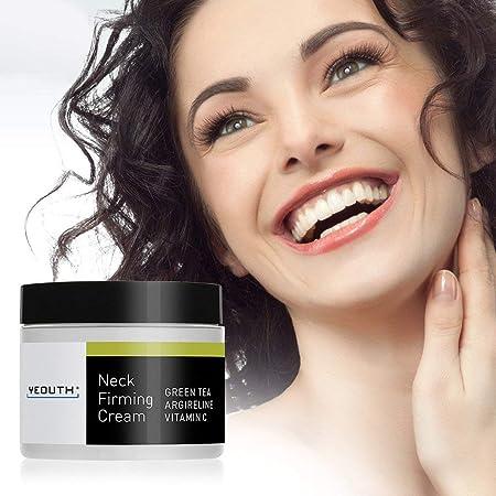 Crema reafirmante para el cuello YEOUTH, Crema antiarrugas hidratante y antienvejecimiento, Ayuda contra la barbilla doble y arrugas del cuello.