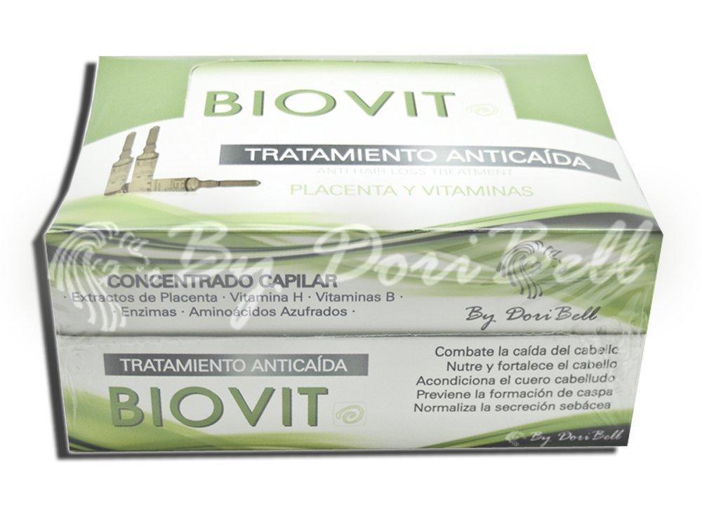 Ampollas Anticaída Placenta Biovit Caja 36 unidades.: Amazon.es: Salud y cuidado personal