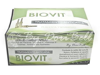Ampollas Anticaída Placenta Biovit Caja 36 unidades.