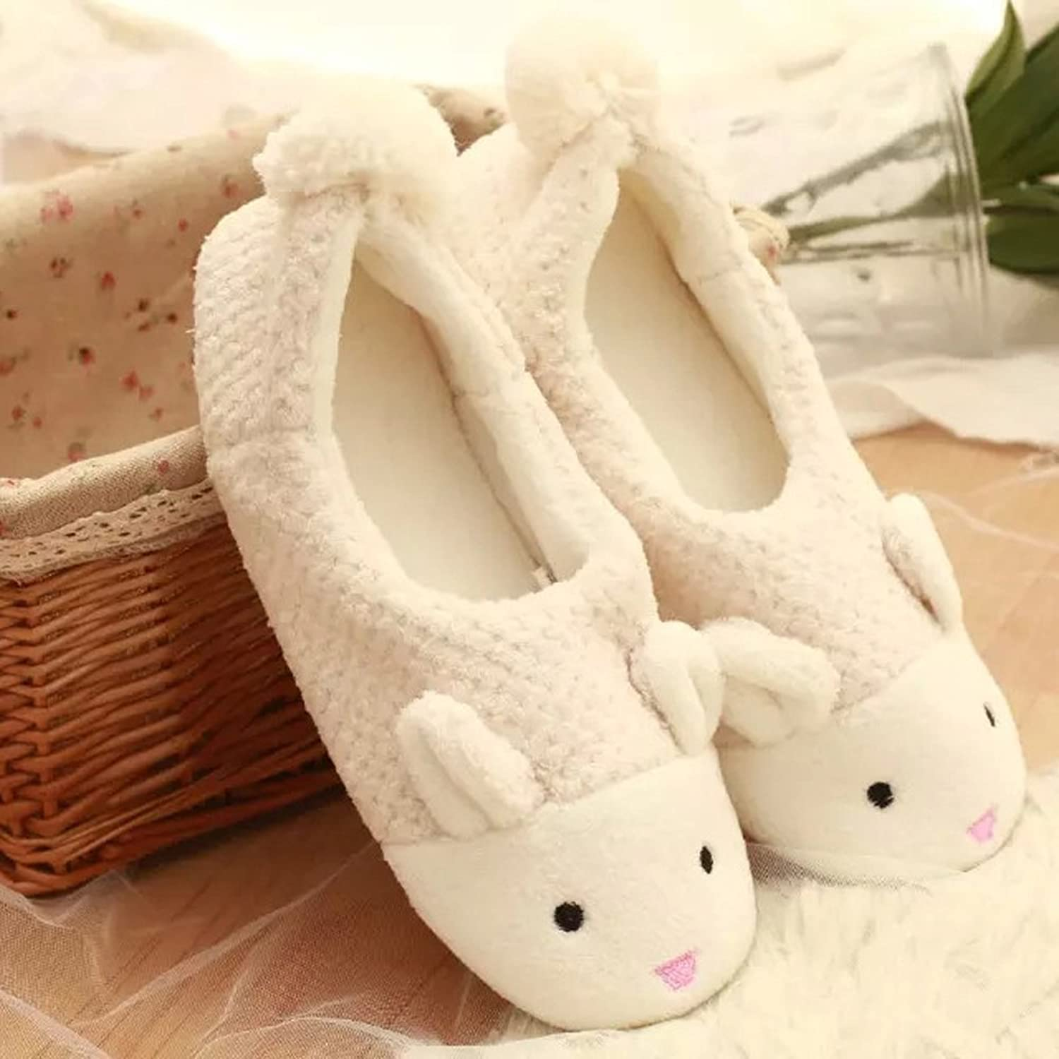 Cute Bunny Girls Boys Women Men Soft Warm Slippers Flat Mules Coral Velvet  Shoes: Amazon.ca: Shoes & Handbags