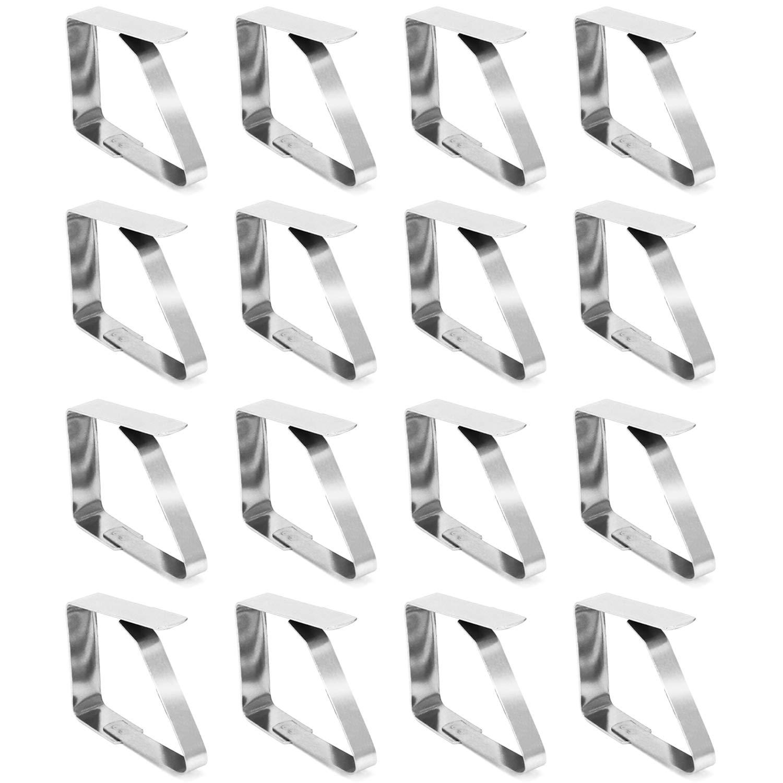 porta tovaglia COM-FOUR/® Clip per tovaglie 8x in acciaio inossidabile peso per tovaglia 08 pezzi
