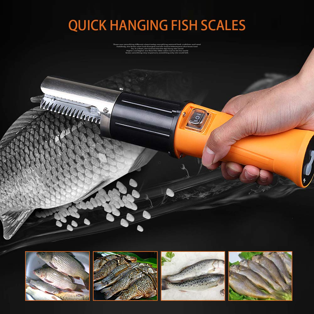 Giraffe-X Electric Fish Scaler Remover with Build-in Rechargeable Battery Waterproof Scraper for Fish by Giraffe-X (Image #5)
