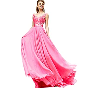 Internet Women Long Maxi Cocktail Party Ball Prom Gown Formal Dress (Asian L, Hot