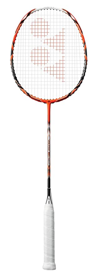 Yonex Voltric 50 Neo Graphite Strung Badminton Racquet  Orange  with Full Cover Racquets