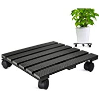 CERBIOR Plant Caddy Heavy Duty Plant Pot with 5 Rolling Wheels Indoor/Outdoor Holds up to 14 Inches and 150 Lbs Strong and Sturdy Design (14 Inch Square, Charcoal)