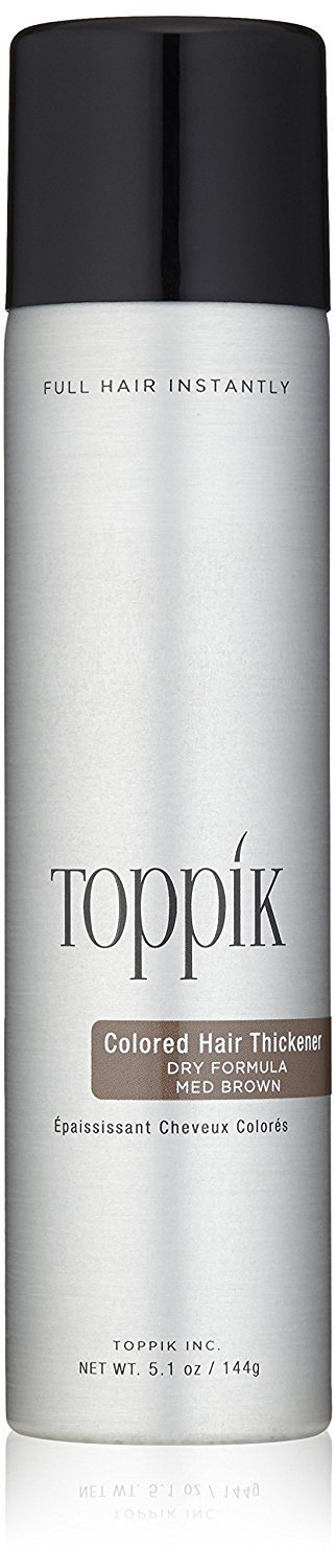 TOPPIK Colored Hair Thickener, Medium Brown, 5.1 oz.