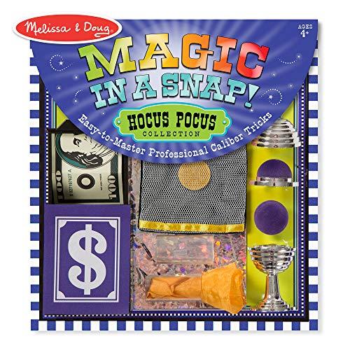 Melissa & Doug Magic in a Snap! Hocus Pocus Collection Magic Tricks Set (Professional Caliber Tricks With Easy Instructions, 12 Pieces) ()