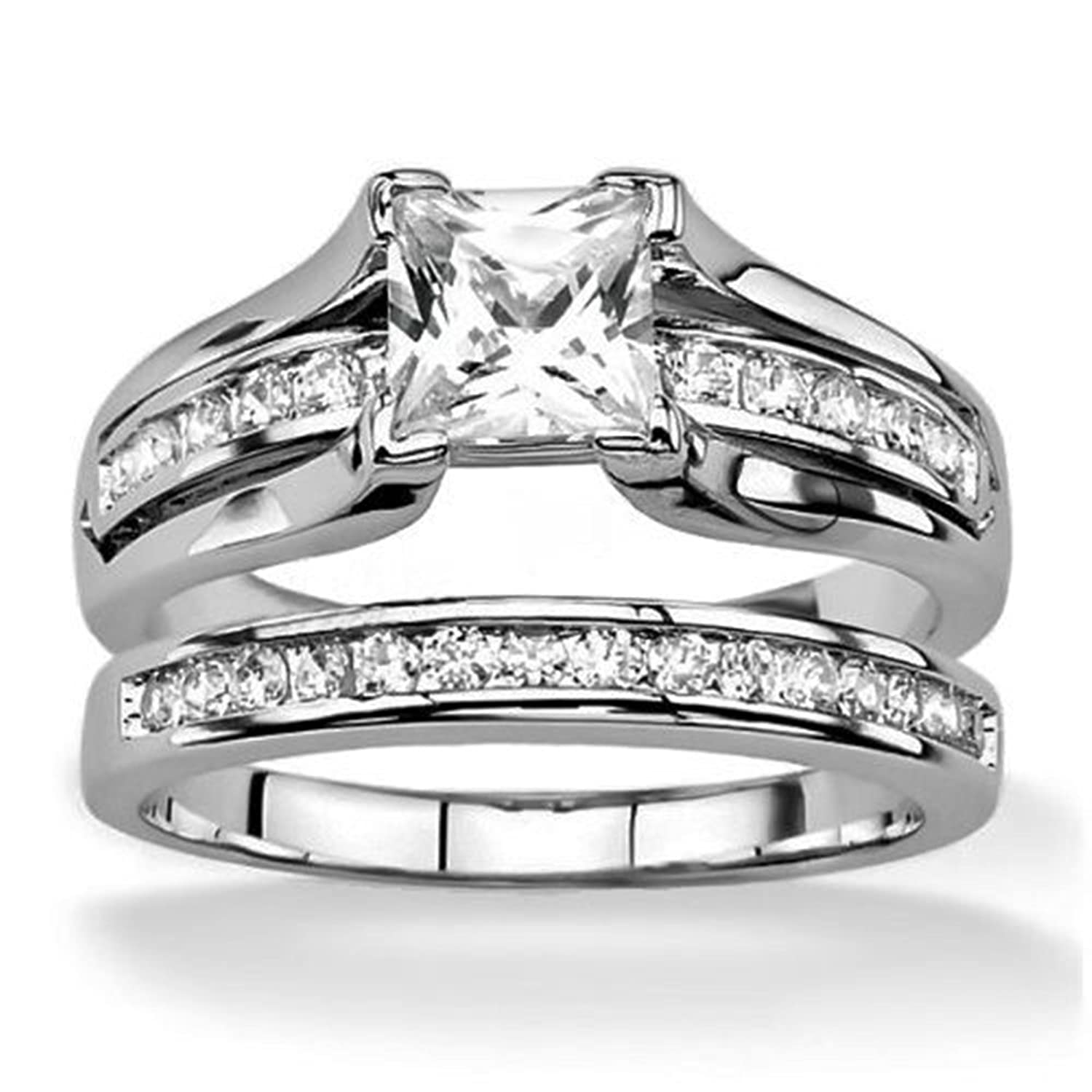 Amazon Eloi 2 1ct Wedding Band Anniversary Engagement Ring
