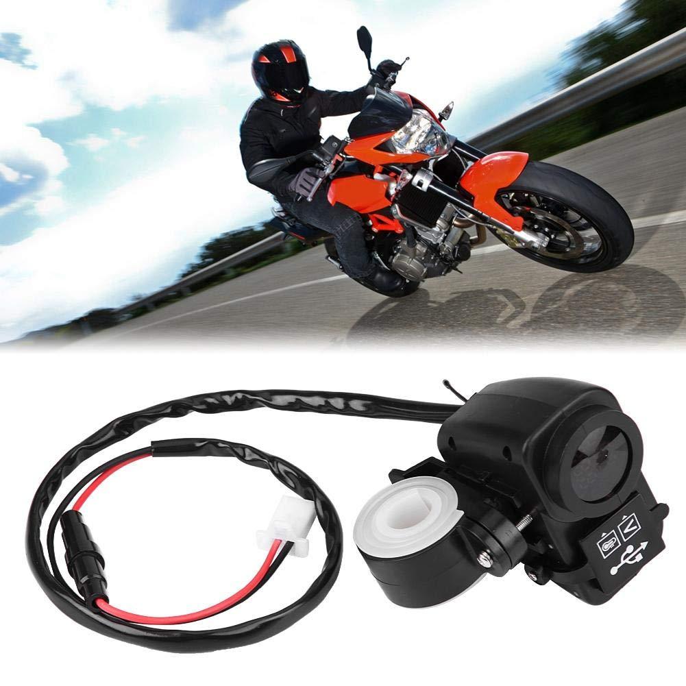 12V 30V Motorrad Dual USB Ladeger/ät Buchse Voltmeter Energienbank Wasserdichte Ladebuchse Voltmeter