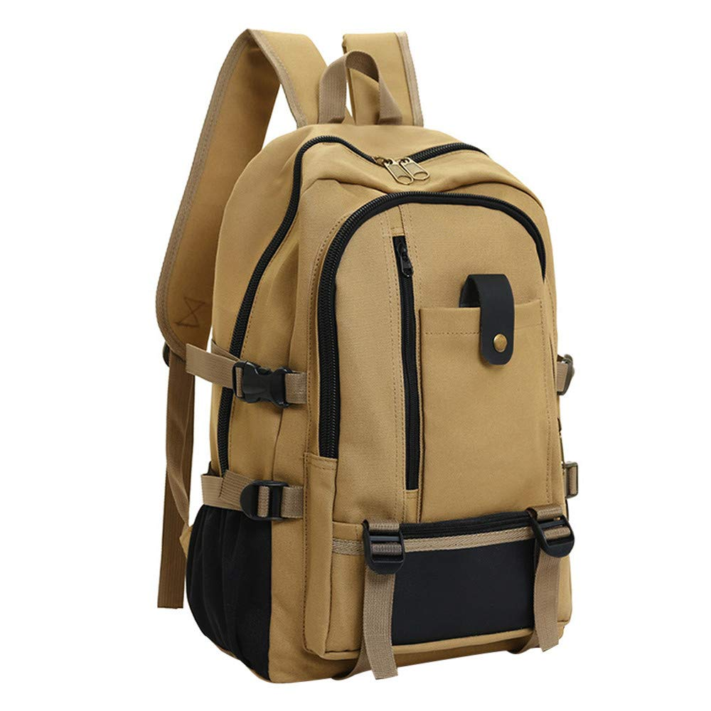 Casual Backpack, Robemon Men Army Color Vintage Design Travel Rucksack Bookbags Canvas