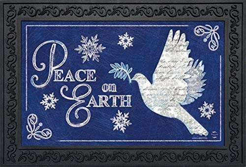 Briarwood Lane Peace On Earth Christmas Doormat Dove Religious 18 x 30 Indoor Outdoor