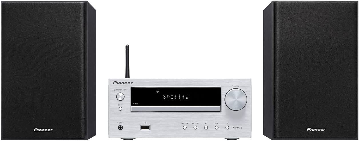 Pioneer X-HM36D-S - Sistema Hight Micro (con Radio Digital Dab, spotify, Radio Internet, WiFi y Bluetooth), Color Plateado