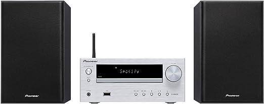 Pioneer X-HM36D-S - Sistema Hight Micro (con Radio Digital Dab, spotify, Radio Internet, WiFi y Bluetooth), Color Plateado