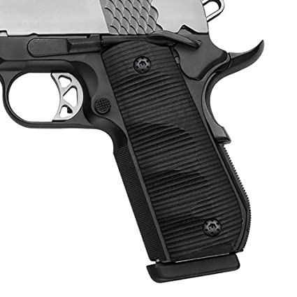 Cool Hand 1911 Full Size (Government/Commander) G10 Grips for Colt, Kimber,  Springfield, Sig, Ruger, Wilson, S & W, Bobtail Round Butt, Ambi Safety