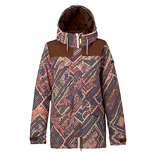 Burton Women's Fremont Jacket, Wander Quilt/Brown Leather, Small