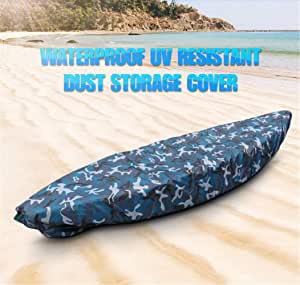 Kayak Cover Canoe Boat Waterproof UV Resistant Dust Storage Cover Shield ac T7H5