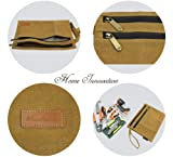 Double-Layer Zipper Pouch Tool Bags Waxed Canvas