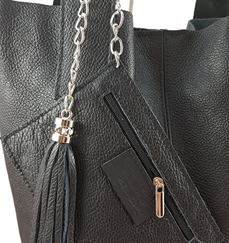 Schwarz2 Italy femme Made Cabas in FreyFashion pour YvOSqBgw