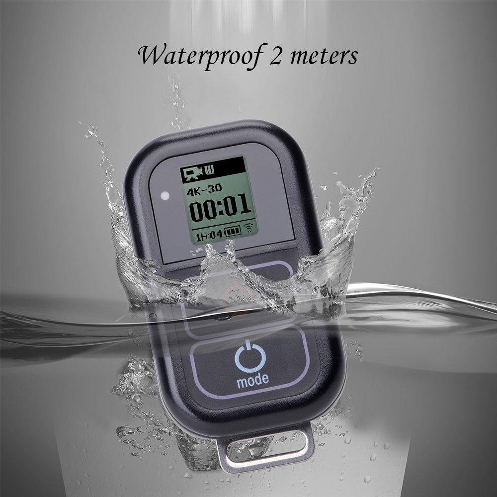 Suptig Waterproof wireless Remote Control for Gopro Hero6 Hero5//5session//4//4s//3+//3 Sports Camera Wifi Remote