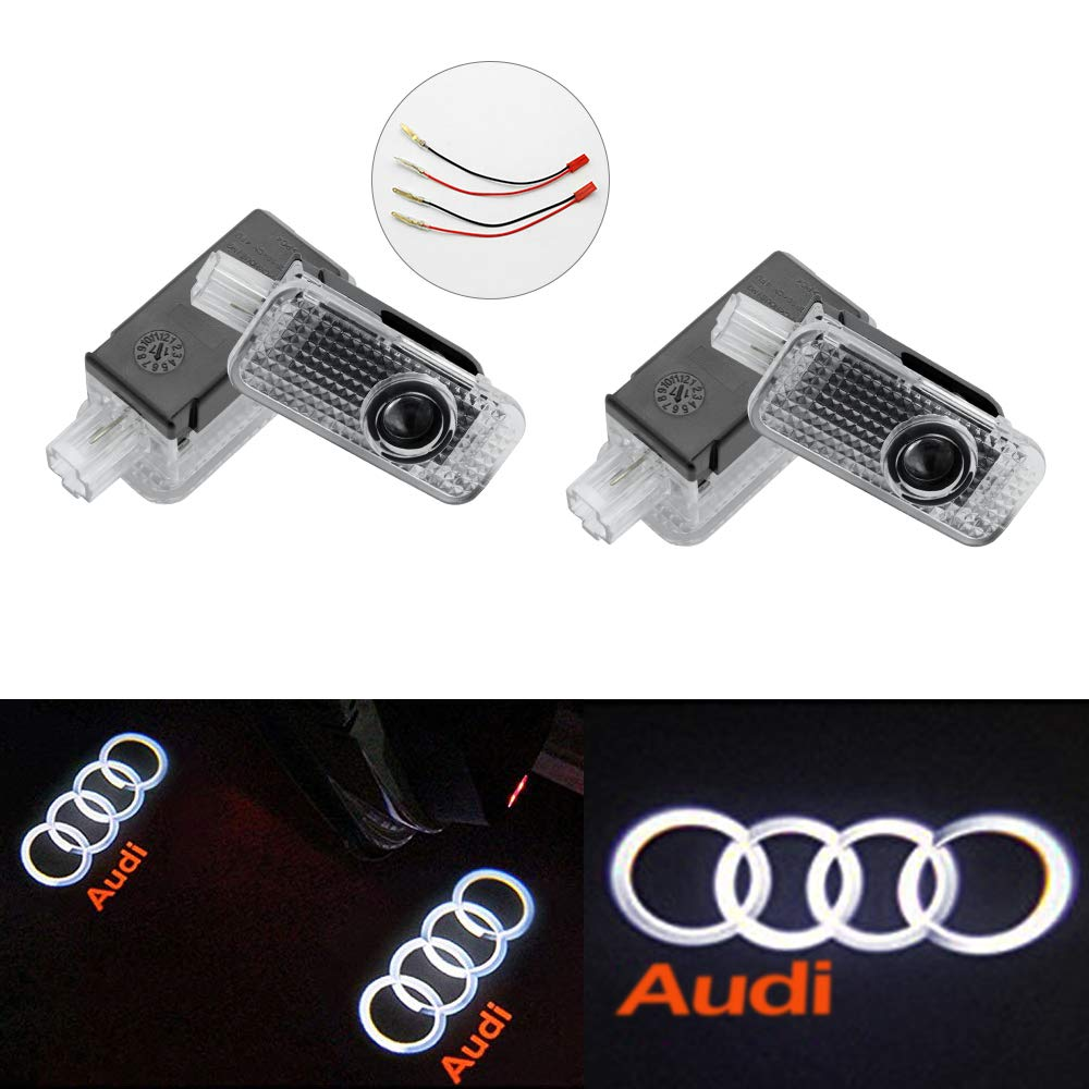 KAHANE Car Door LED Logo Projector Welcome Ghost Shadow Low Consumption Shadow Lights for BMW Series (4 Pack)