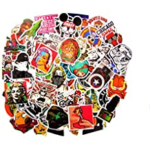SNation 100pcs Sticker pack Laptop Stickers skateboard stickers custom stickers stickers car stickers personalised stickers vinyl stickers decal stickers Supreme Sticker. (Laptop sticker)