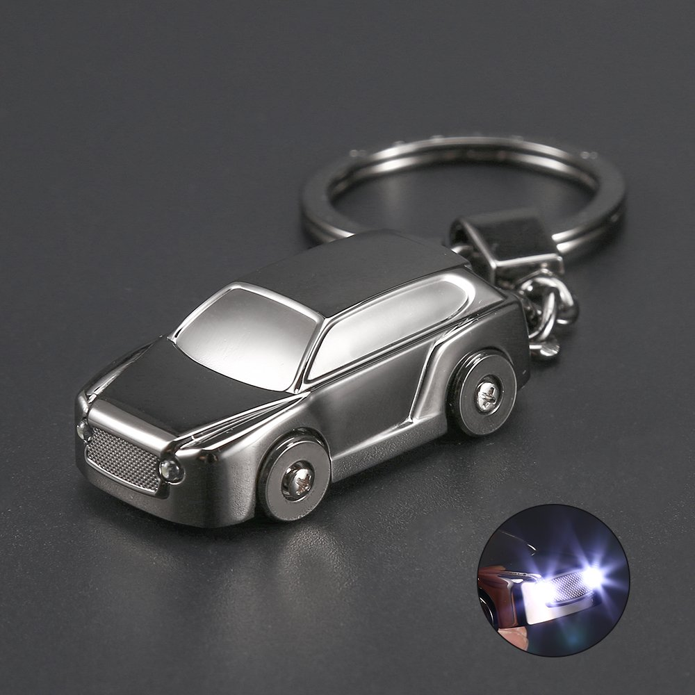2b01fe979500 well-wreapped Car Key Chain Flashlight, Jobon 3 in 1 Keychain with 2 ...