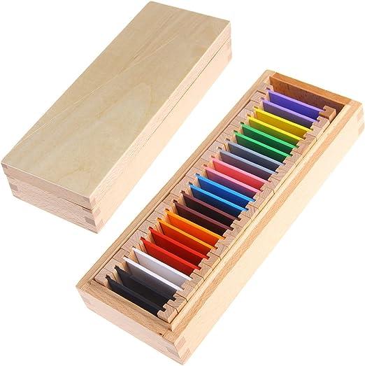 JAGETRADE Montessori - Caja de madera para tabletas con material ...