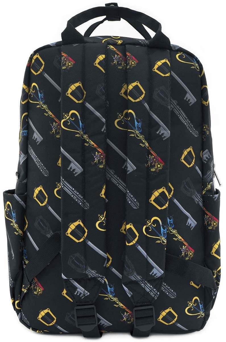 Loungefly Disney Kingdom Hearts Keys AOP Square Nylon Backpack WDBK0986