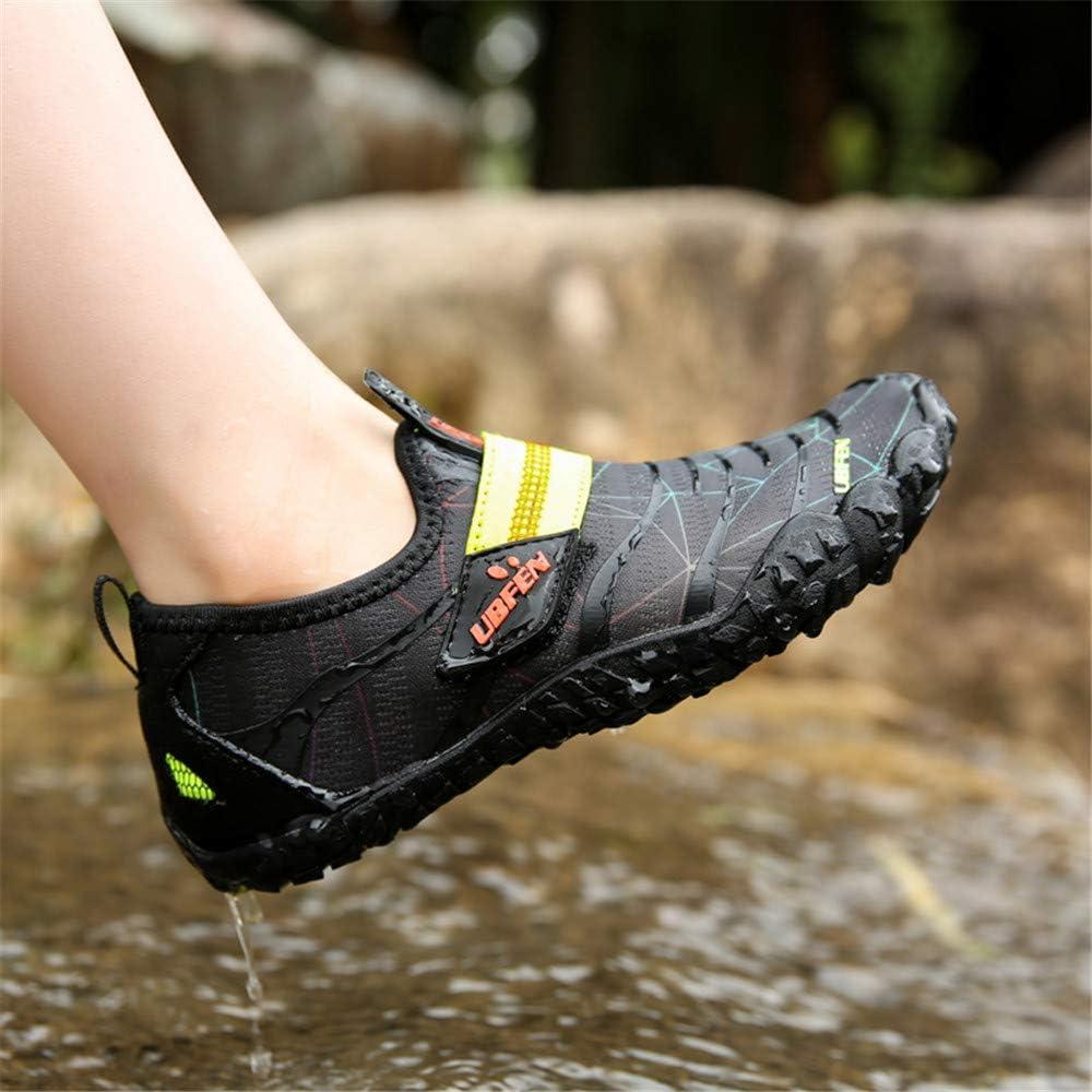 KUBUA Boys Girls Water Shoes Aqua Socks for Kids Quick-Dry Swim Walking Surf Diving Barefoot Pool Beach