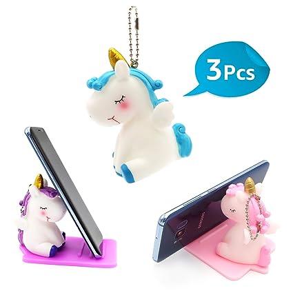 Amazon.com: Pack de 3 Unicornios Soporte de teléfono ...