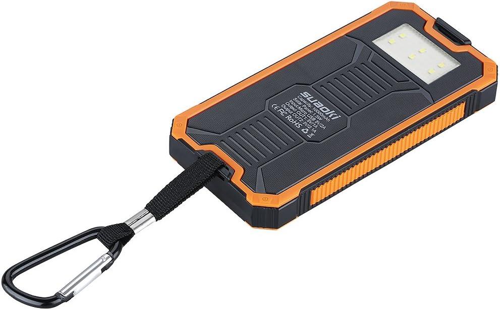 Suaoki - 10000mAh Batería Externa Cargador Solar PowerBank con ...
