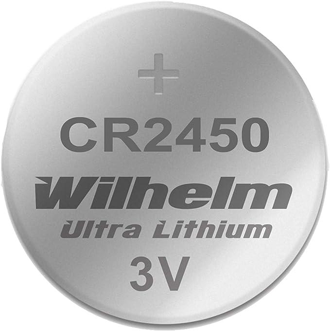 1 X Cr2450 Wilhelm Lithium Knopfzelle 3v 600mah Elektronik