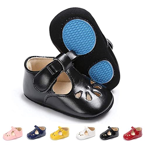 e1e37749cc45a SOFMUO Baby Girls Mary Jane Flats with Bowknot Non-Slip Toddler First  Walkers Princess Dress Shoes