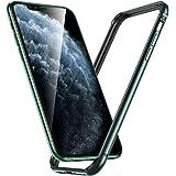 ESR iPhone 11 Pro Max ケース アイホン 11 Pro Max 衝撃吸収バンパー ケース 【スリム 軽量 電波影響無し 安心保護 ストラップホール付き】6.5インチ iPhone 11 Pro Max 專用スマホケース (ダークグリーン)