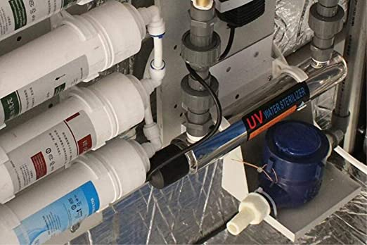 GRASSAIR Lámpara UV De Tubo De Desinfección Ultravioleta para Esterilizador De Agua 220V 12W 1GMP con Acero Inoxidable 304 UV-1.0G: Amazon.es: Hogar