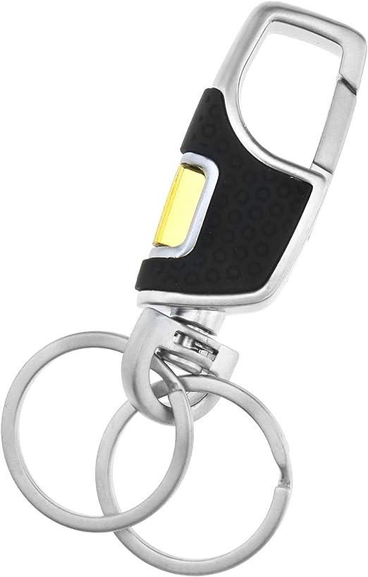 Men/'s Creative Metal Leather Key Chain Ring Keyfob Car Keyring Keychain Gift