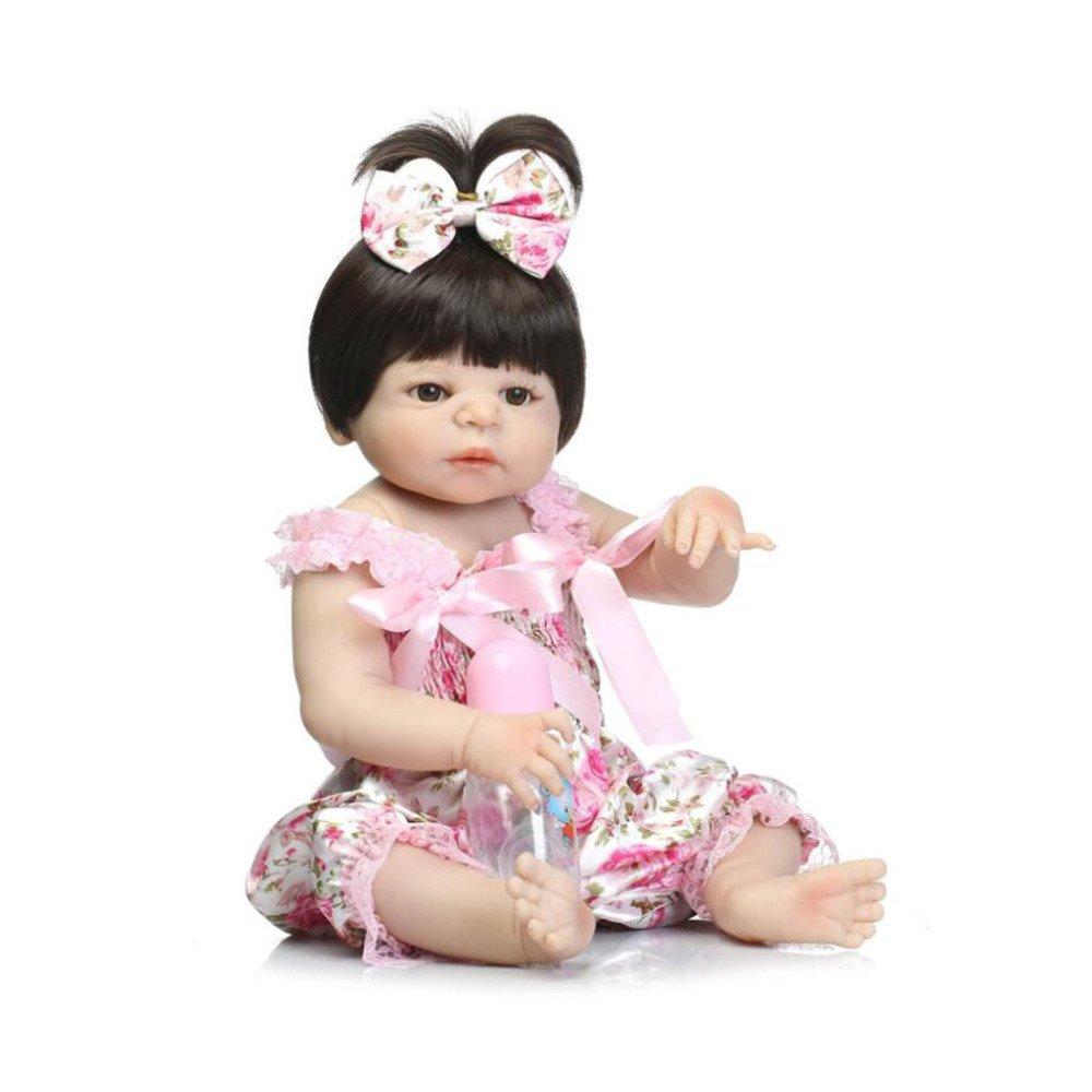 GUOHONG-CX Simulación Renacimiento Muñeca De Silicona Linda Bebé Puede Acompañar Juguetes Bebé Regalo De Cumpleaños 57CM