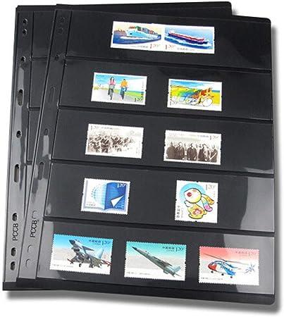 10 páginas de sellos para álbum de hojas, hojas sueltas de PVC, soportes de sellos para papel, dinero, fotos, colector, no incluye funda, As Picture Show, e: Amazon.es: Hogar