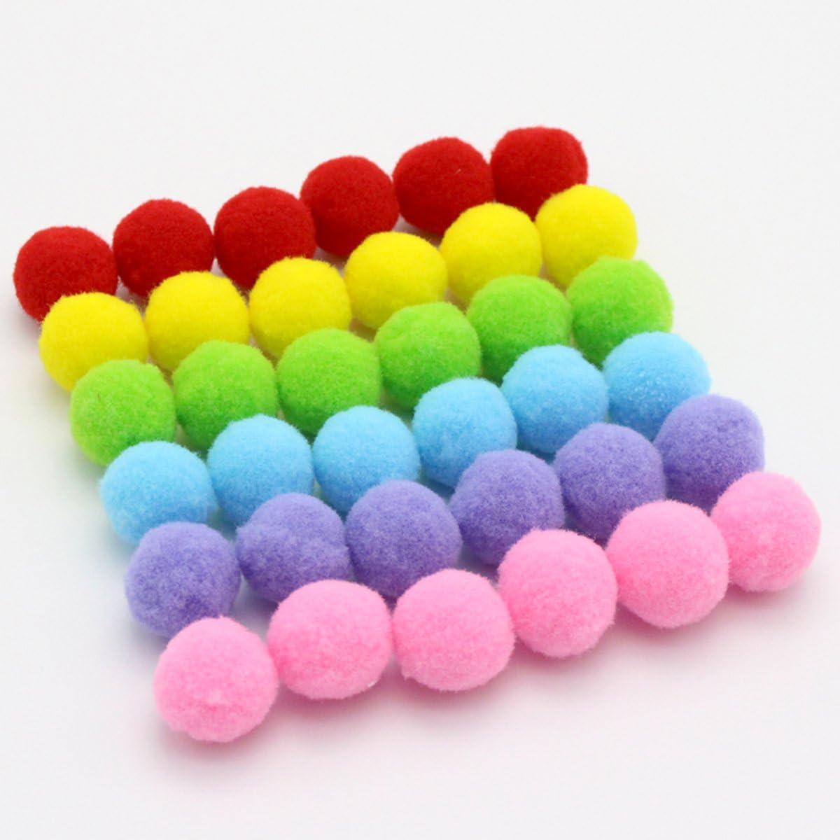 UEETEK 160pcs 3.5/cm juguetes de gato Surtido de Colores douces gato juguete bolas gatito Juguetes pomp/ón bolas color de mezcla
