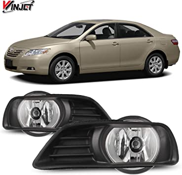 2007-2009 Toyota Camry Clear Driving Fog Lights Switch Wiring Kit Winjet 4333009664 OEM Series for