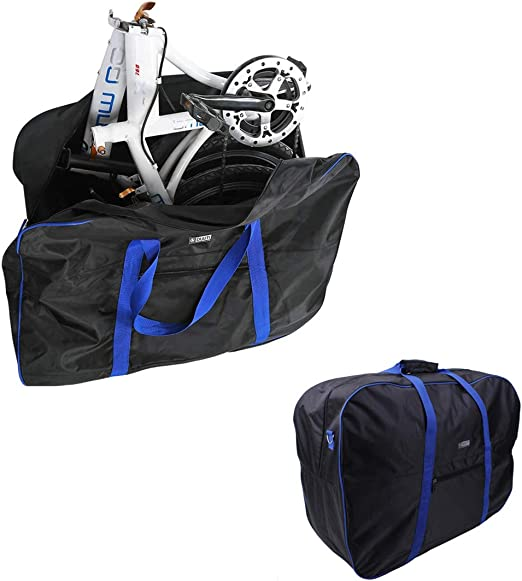 Kisshome Folding Bike Carry Bag Bike Travel Case Thick Bicycle Transport Bag,Bike Case for Air Travel(14 inch to 20 inch)