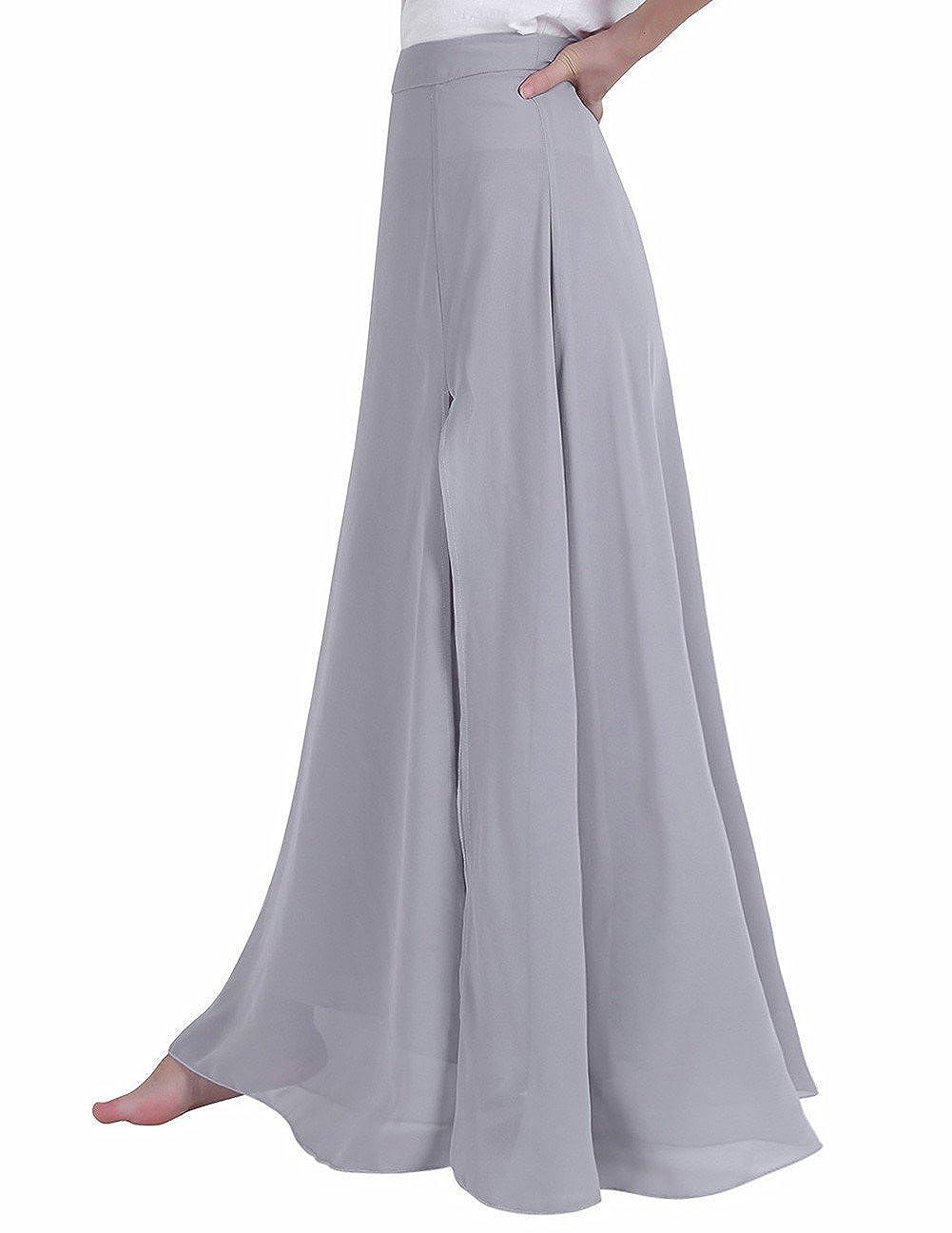 f8099fc21e iiniim Women's Elegant Flowy Side Split Jersey Long Maxi Skirt:  Amazon.co.uk: Clothing
