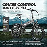 Eahora X5 Pro 48V 500W Folding Electric Bike Cruise Control 20 Inch Fat Tire Electric Mountain Bike Snow Beach Electric Bicycle 10.4Ah Ebike for Adults with Electric Lock Power Regeneration 7 Speed