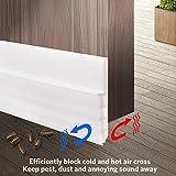 Kyпить Under Door Seal Strip, Geengle Under Door Draft Stopper Door Sweep, Premium Quality Weather Stripping for Cracks and Gaps 2